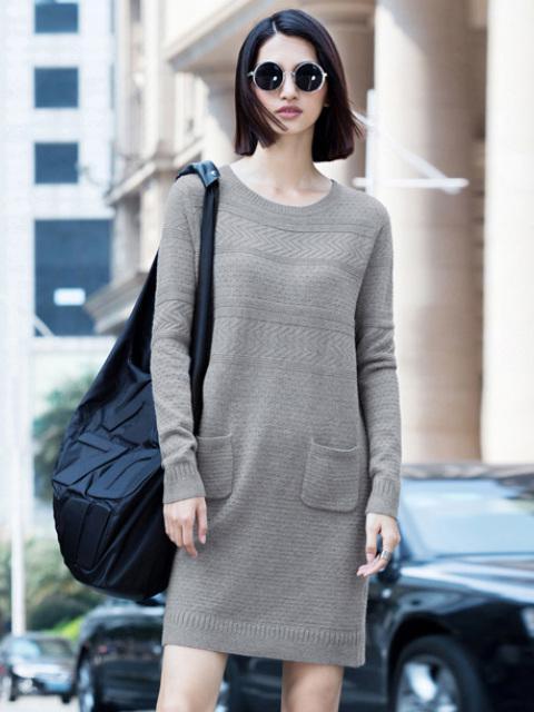 直筒裙才是绝佳显瘦良,秋天穿简直再合适不过