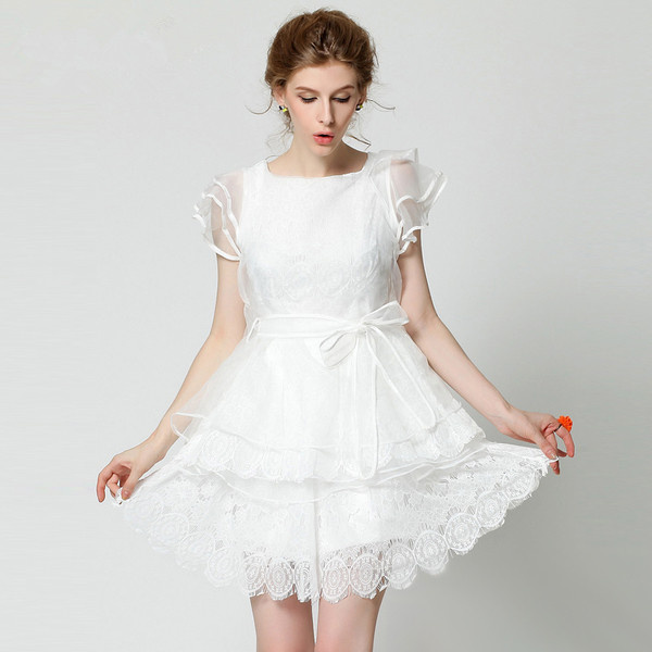 连衣裙夏季韩版欧根