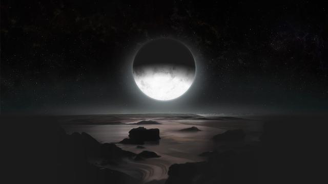 图为冥王星卫星尼克斯(左)和许德拉(右).