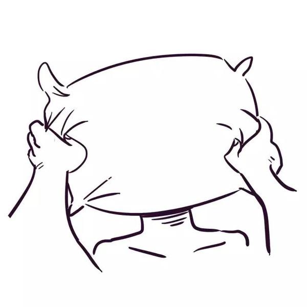 枕头手绘简笔画