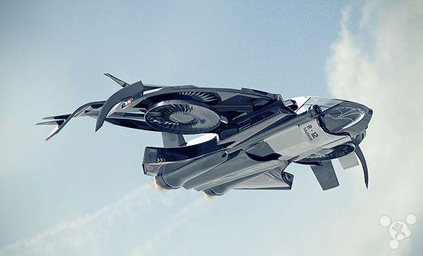 未来的逆天的直升飞机 sting r12科幻风旋翼飞机