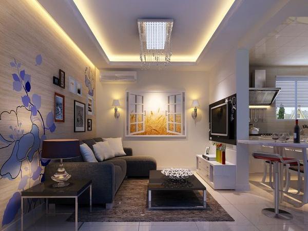 86平米现代简约三室一厅装修效果图