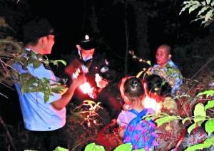 广州一家三口迷失森林公园 民警通宵搜寻营救