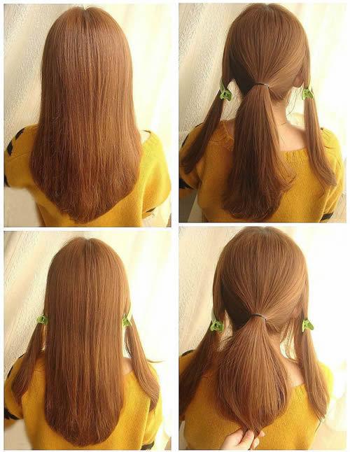 最好是找姐妹帮个忙,不过学会这款发型图片
