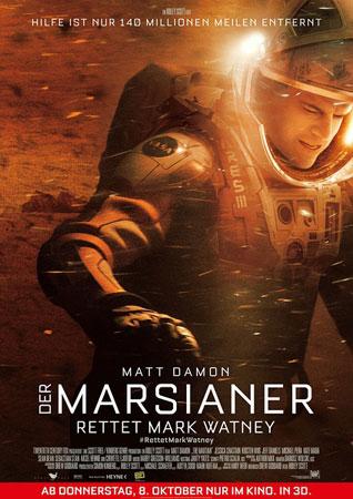 《火星救援》上映到第四个周末依旧有1590万美元的进帐