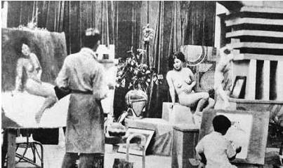 刘海粟的人体模特写生课在当时可谓惊世骇俗。