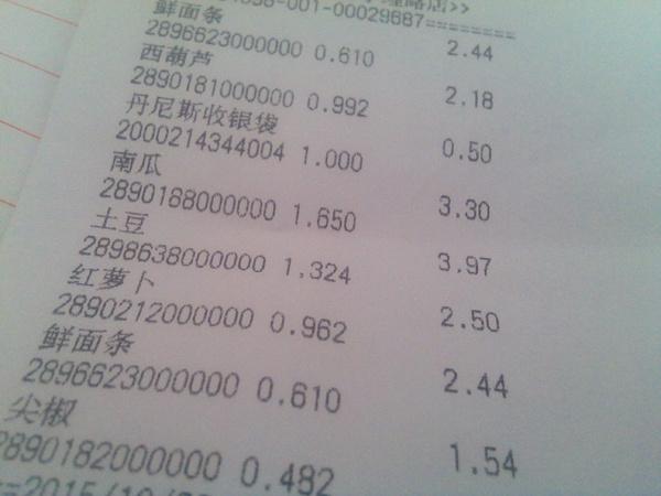 超市购物小票,千万不要随手丢弃