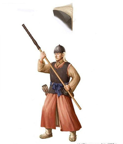 古代朝鲜士兵军装与冷兵器,中国味儿十足!