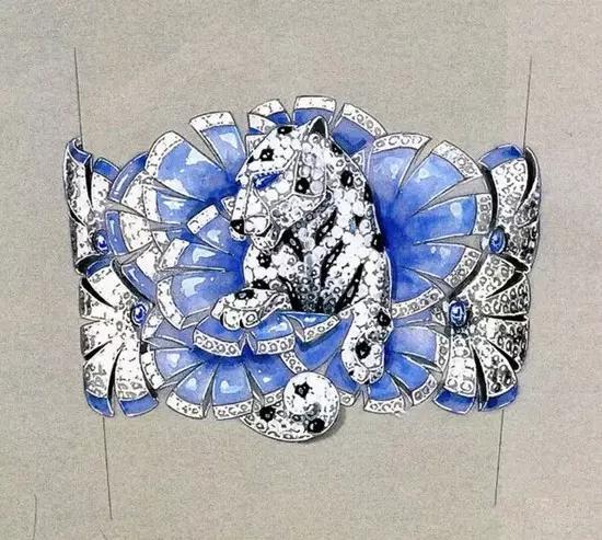 别不稀罕珠宝设计草图,绝美的细节无与伦比