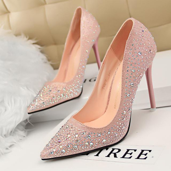 Pink And Silver Dress Shoes