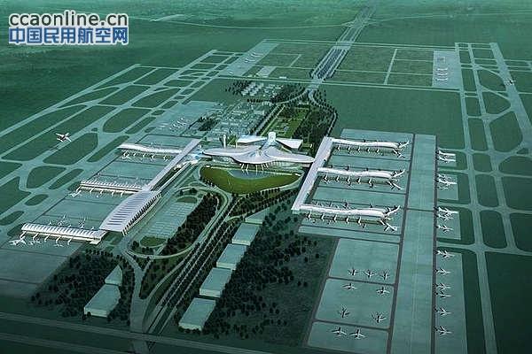 武汉天河机场三期扩建工程T3航站楼效果图-中集集团获广州 武汉机场