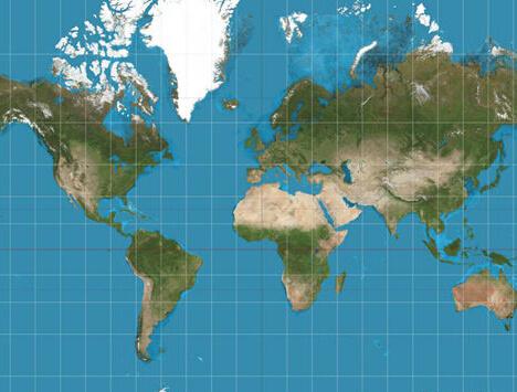网传世界地图严重失真引网友大呼被骗 专家解析