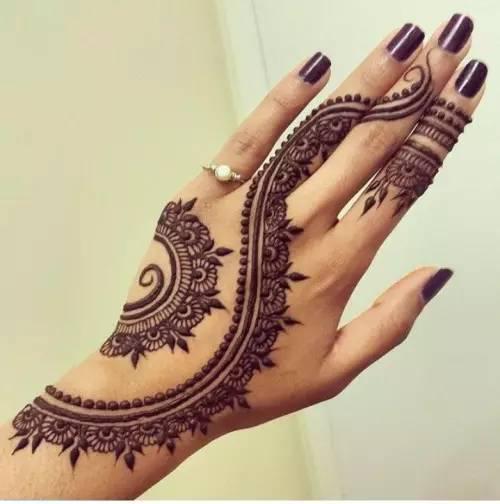 那就是 印度海娜手绘纹身 不知道这是什么鬼?来,高清无码大图安利你.