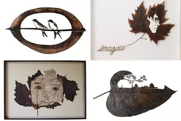 喜怒哀乐都呈现在叶子之上.