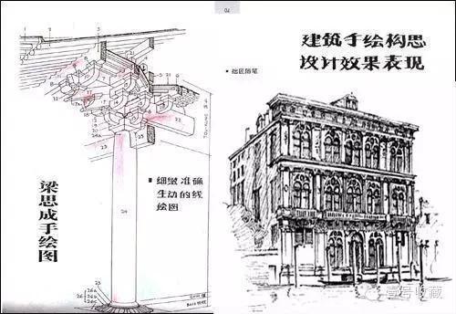 手绘西方建筑