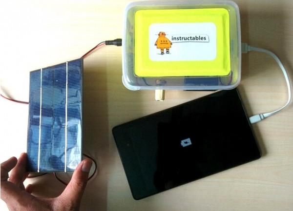 牛人自制教程:DIY能为手机充电的太阳能充电器