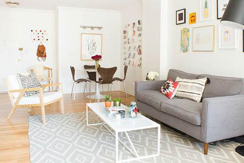 开放设计好宽敞 轻盈活泼小户型家(组图)图片