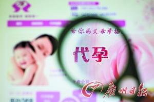 代孕机构网页。 记者苏俊杰 摄