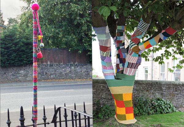 全世界最温暖的小镇—连电线杆都穿上了毛线袜图片
