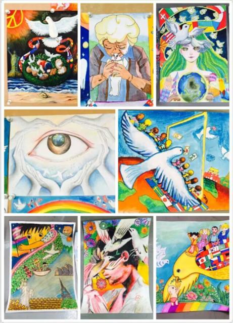 2016年度全国少年儿童世界和平海报第二赛区(广东)潮汕赛区作品评选图片
