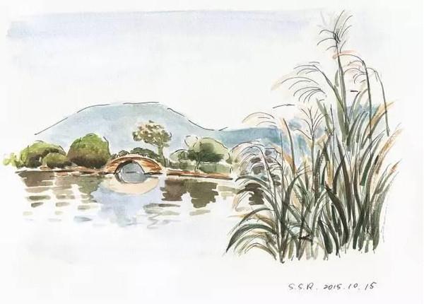 """七张绝美手绘图,杭州最适合""""望穿秋水""""的发呆地"""