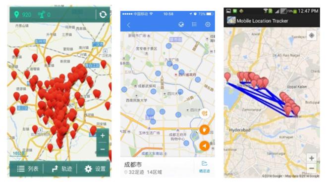 """""""手机行踪速查"""" """"百度地图"""" """"location tracker"""""""