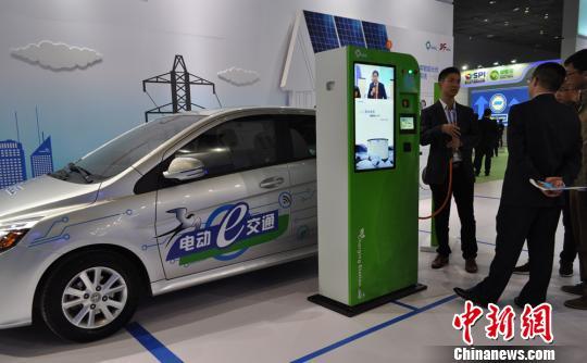 第七届中国国际新能源大会暨展览会无锡开幕高清图片