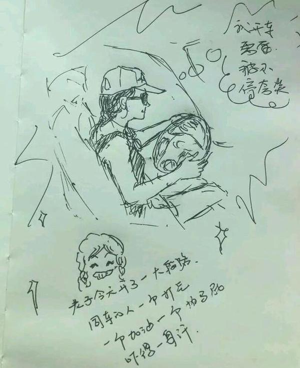 手绘女动漫笔画