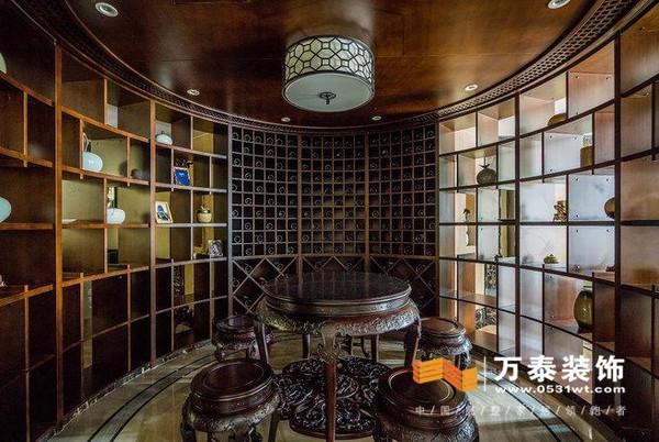 济南开元府小区新中式风格装修效果图分享高清图片