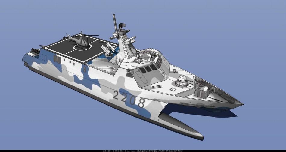 中国海军目前仍装备有数量可观的022型导弹艇,有网友提出方案,可以