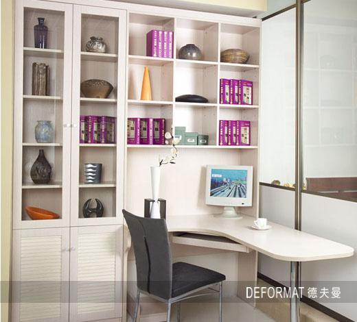 转角书柜效果图 巧妙打造个性办公区域