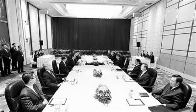 两岸领导人举行会谈