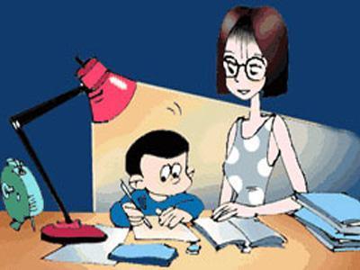 写作业卡通图片