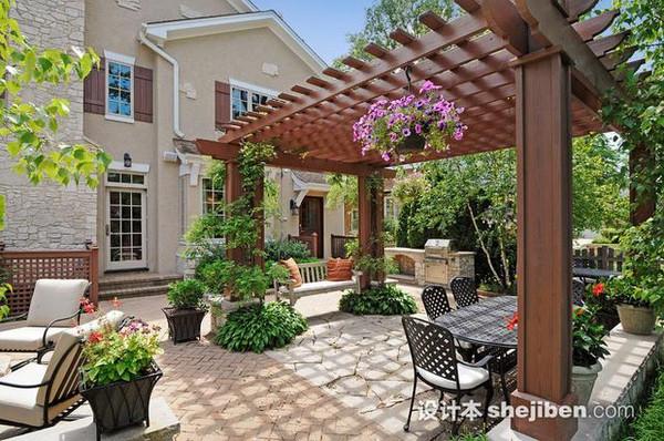 60款超美的庭院设计效果图