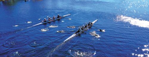 """在""""赛艇之城""""波士顿很多人是划着划艇上班的(组图)"""