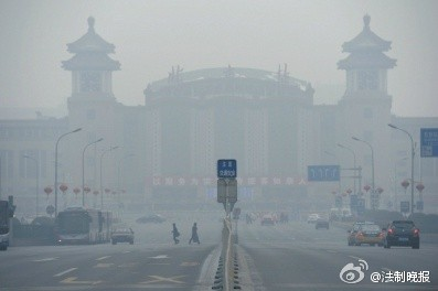 """气象台:10至12日京城都在""""霾伏圈""""(图)"""