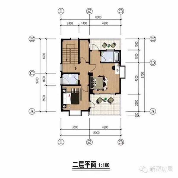 农村小户型自建房别墅设计图,只要20万省钱又时尚