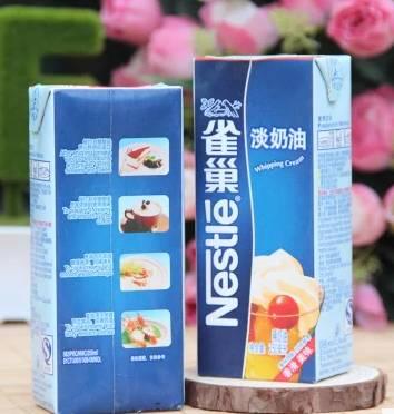 但是雀巢淡奶油做冰淇淋、蛋挞、奶昔、花式咖啡、奶茶、忌廉汤都很