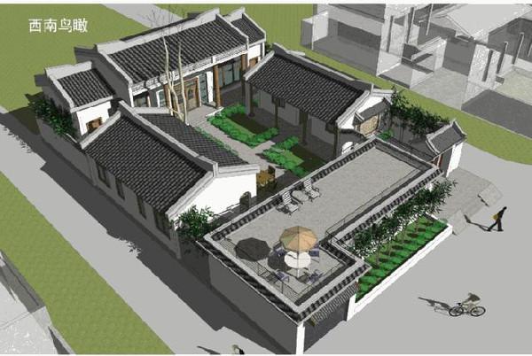 项目名称:中式四合院别墅(暖心苑)图片