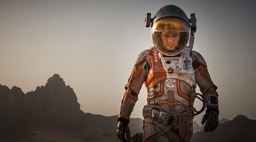 马特-达蒙被滞留火星形单影只