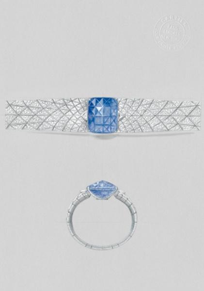 编织小银珠戒指双排