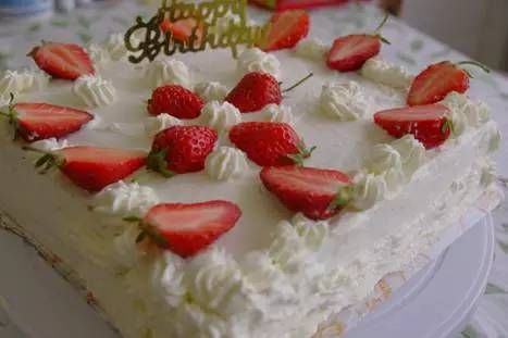 家庭简易版:自制水果生日蛋糕