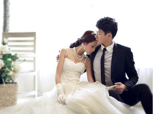 韩式风格婚纱照图片