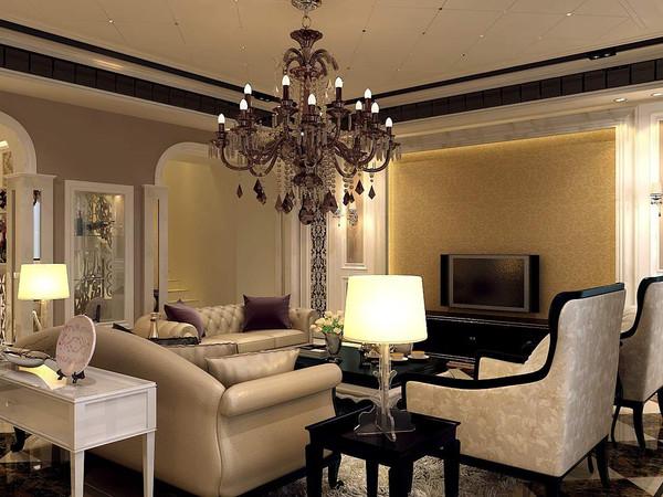 贵阳保利公园2010复式楼260平米美式风格装饰图片