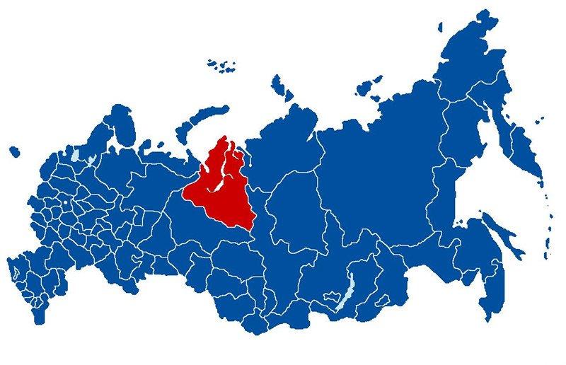 俄罗斯亚马尔—涅涅茨自治区方位