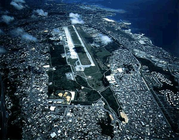 位于冲绳县宜野湾市的美军普天间基地