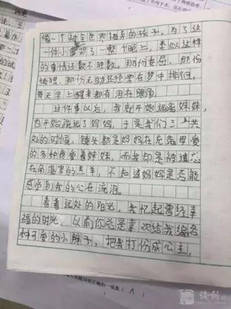 五年级作文辅导_五年级期中考试作文_450字