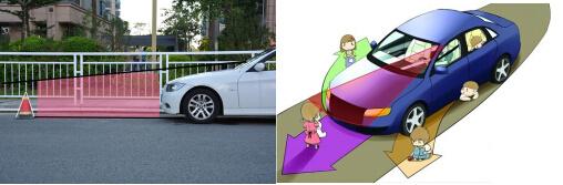 盲区二:汽车两侧 视线易被a柱遮挡 右后侧盲区突出图片