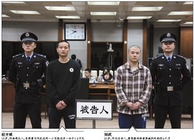 """曾同在丰台一大型社区做泊车办理员的""""95后""""青年刘武和杜开威,商定靠掳掠捞钱,并将目的确定了单独外出的年青女人。"""