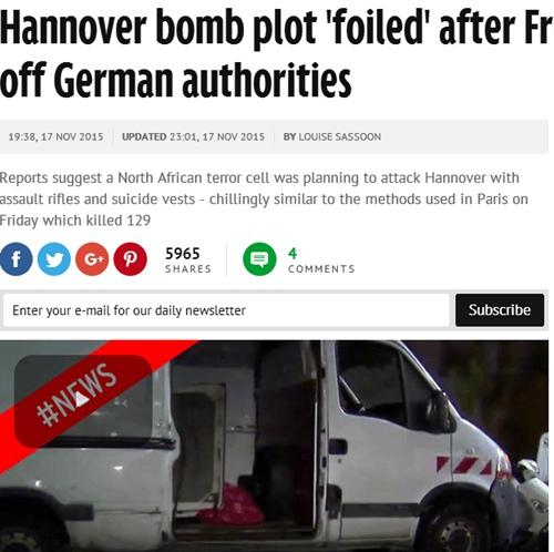 法国情报机构提前告知德国警方做好防范